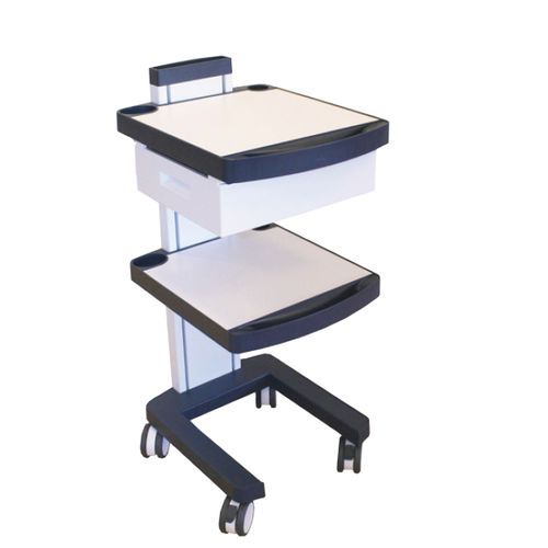 transport cart / for medical devices / 1-drawer / 2-tray