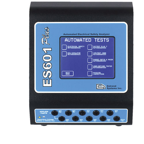 electrical safety tester / for medical devices / bench-top / with touchscreen