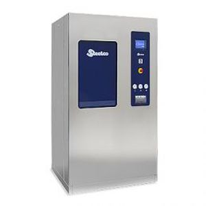 laboratory autoclave / bench-top / with steam generator / with sliding door