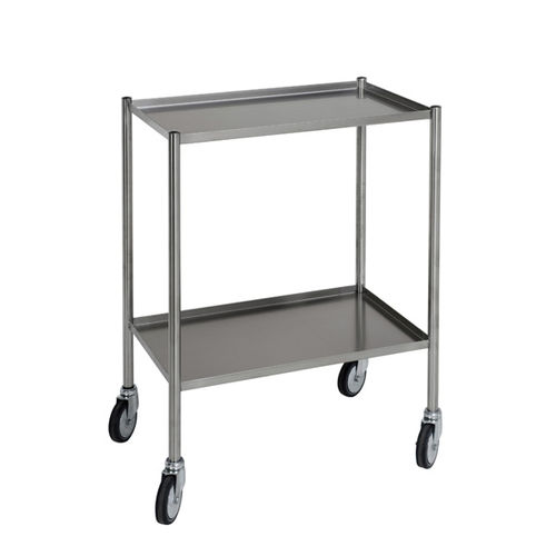 treatment trolley / for linen / with tray / 2-tray