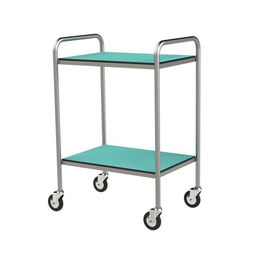 treatment trolley / for general purpose / 2-tray / compact