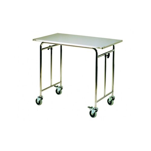 instrument table on casters / stainless steel