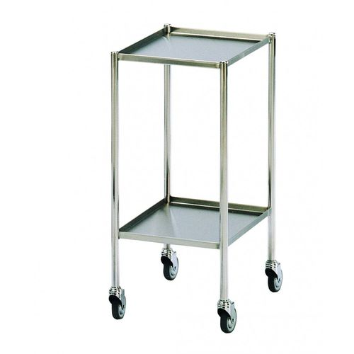 dressing trolley / for general purpose / 2-tray / stainless steel