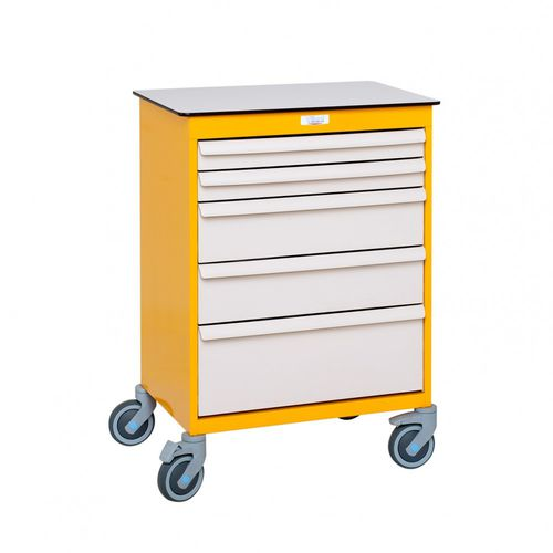 hospital cabinet / with drawer / on casters