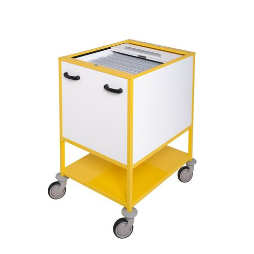 storage trolley / for medical records