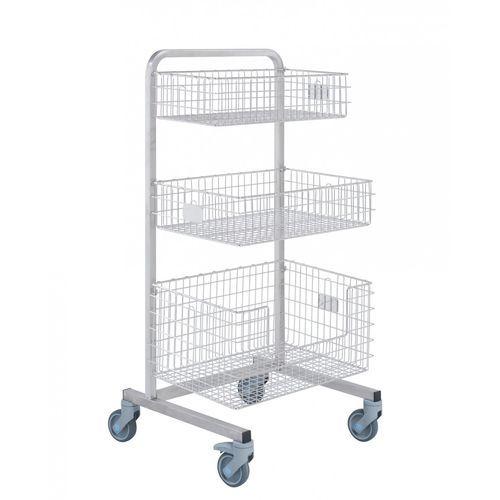 sterilization trolley / transport / for sterilization baskets / with basket