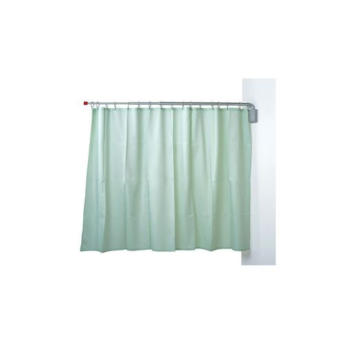 wall-mounted hospital screen / 1-panel / with curtain