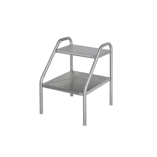 2-step step stool / stainless steel
