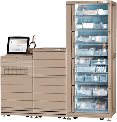 medicine automated dispensing system / pharmacy / on casters / with computer