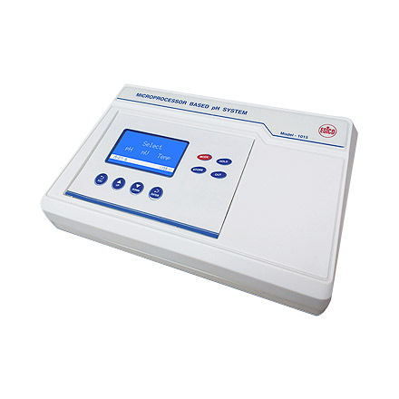 laboratory pH meter / benchtop / with thermometer