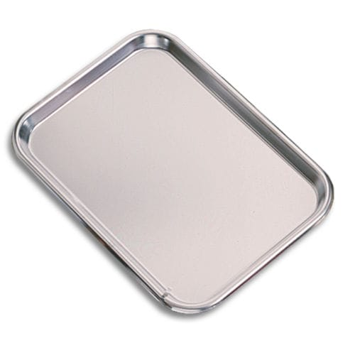 dental instrument sterilization tray / non-perforated / stainless steel