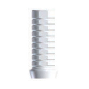 straight implant abutment / titanium / external hexagon / castable