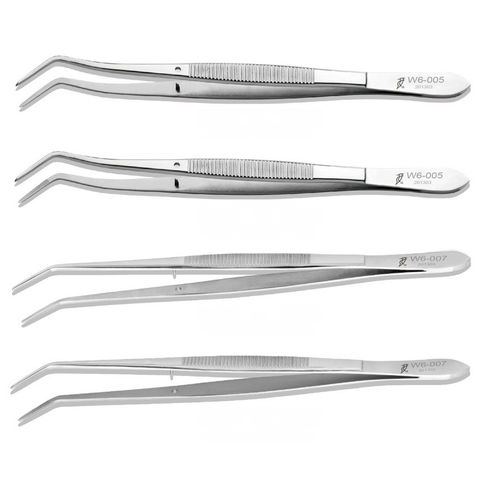 surgical dental tweezers / curved