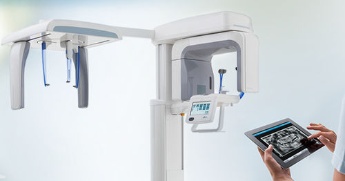 cephalometric X-ray system / panoramic X-ray system / digital / floor-mounted