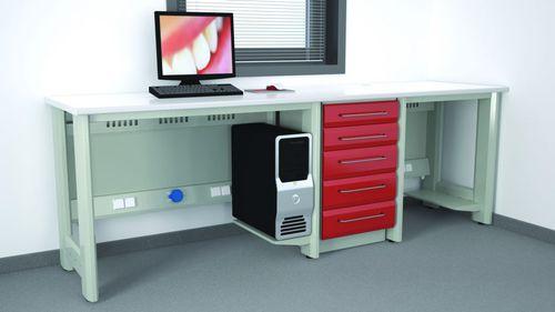 worktop with drawer / modular / for dental laboratories