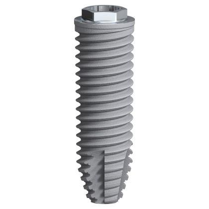 cylindrical dental implant / titanium / external hexagon