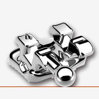 mini-twin orthodontic bracket / metal