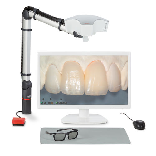 dental laboratory video microscope / digital / bench-top / 3D