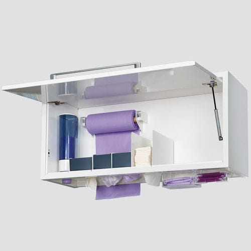 consumable cabinet / for dental clinics / 1-door / wall-mounted