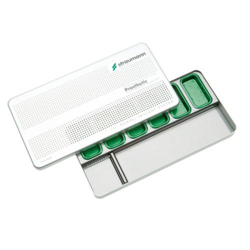 dental instrument sterilization cassette / stainless steel / perforated