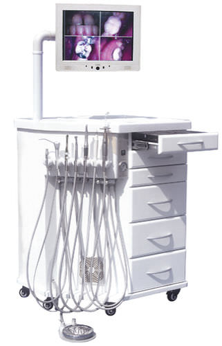 orthodontic treatment unit with monitor