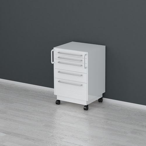 hospital cabinet / 4-drawer / on casters
