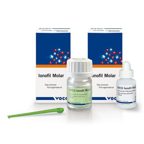glass ionomer dental material / for dental restorations / biocompatible / radio-opaque