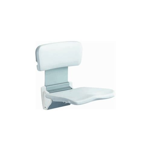 shower seat / fold-down / wall-mounted