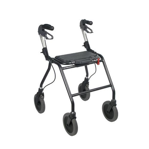 4-caster rollator / height-adjustable / with seat