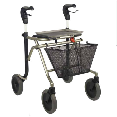 4-caster rollator / height-adjustable