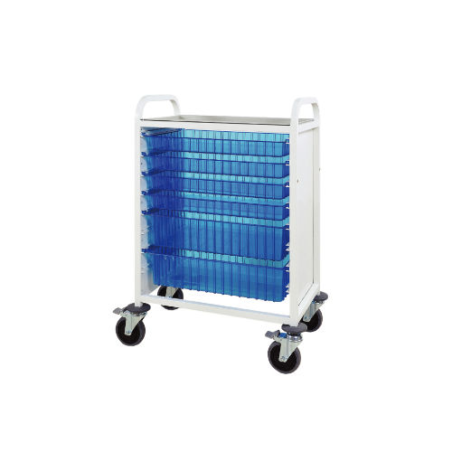 multi-function trolley / for medicine / with basket / open-structure