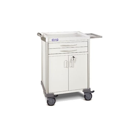 hospital cabinet / 2-drawer / 2-door / mobile