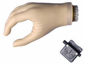 active electric hand prosthesis / hook clamp / adult
