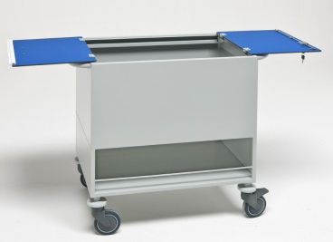 transport trolley / X-ray records / with door / vertical-access