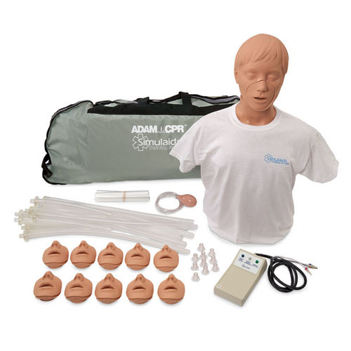 CPR training manikin / adult / torso / with electronic console