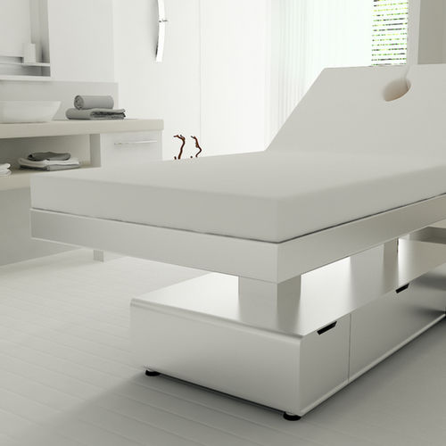 electric spa table / height-adjustable / 2-section