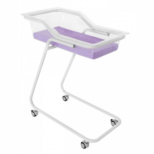 baby hospital cot / on casters / transparent