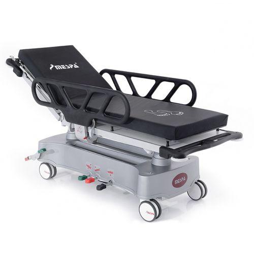 transport stretcher trolley / emergency / hydraulic / height-adjustable