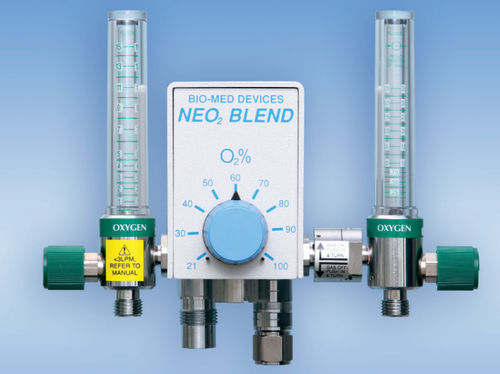 anesthesia gas blender / air / oxygen / with dual flow meter tubes