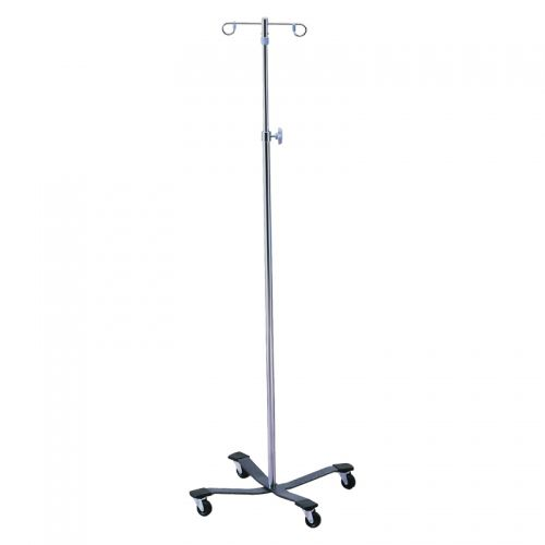 IV pole on casters / 4-hook / 2-hook