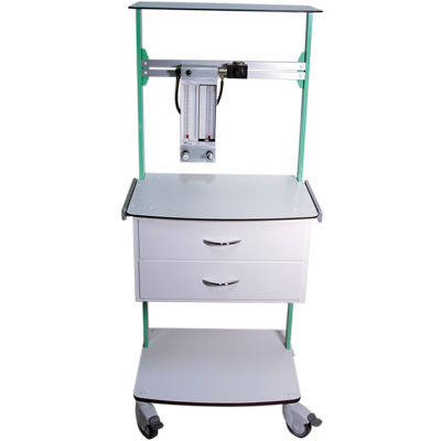 anesthesia trolley / operating table accessory / for medical devices / with drawer