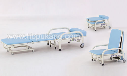 convertible patient chair / on casters / manual