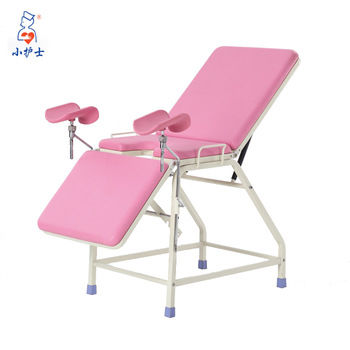 gynecological examination table / manual / fixed-height / 3-section