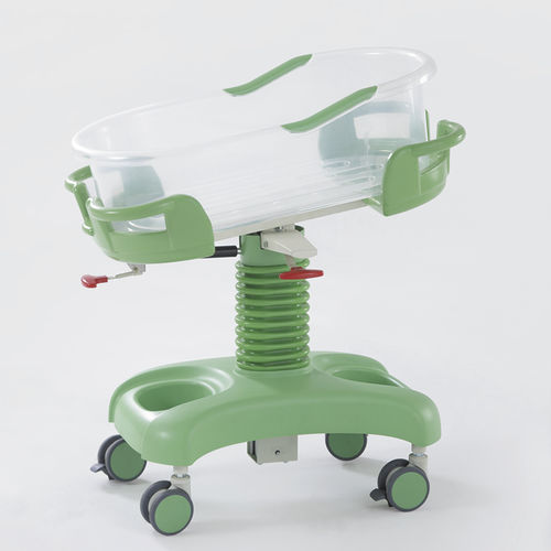Trendelenburg hospital bassinet / height-adjustable / reverse Trendelenburg / on casters