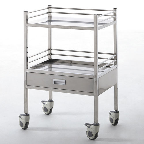 transport trolley / for instruments / 1-drawer / 2-tray