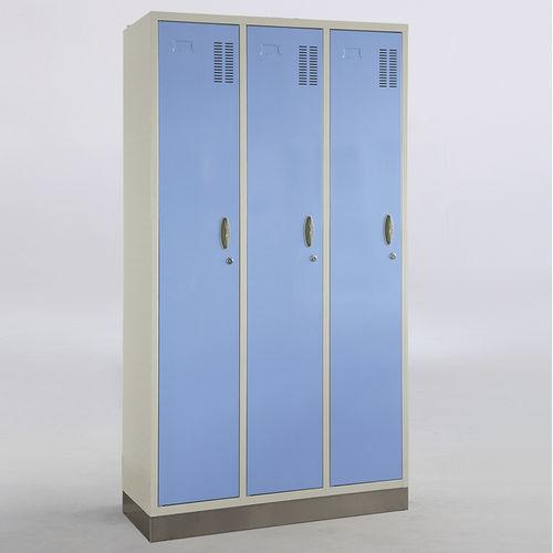 linen cabinet / locker room / 3-door / with hanging rack