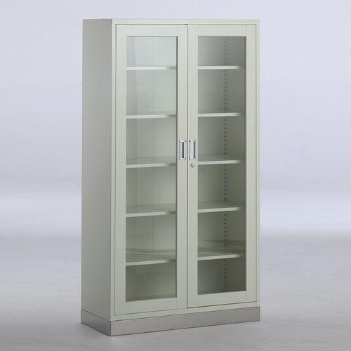 instrument display cabinet / hospital / with shelf / 2-door