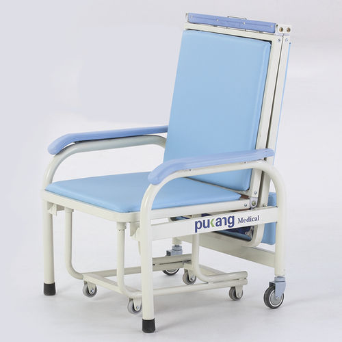 patient chair on casters / convertible / leather / manual