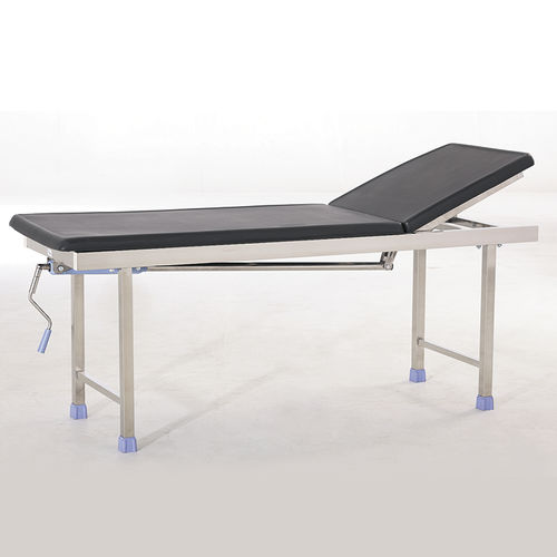 manual examination table / with adjustable backrest / 2-section