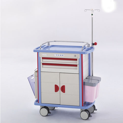 emergency trolley / transport / for general purpose / 5-drawer